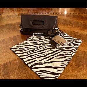 Linea Pelle Leather Foldover Clutch